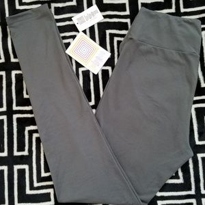NWT LuLaRoe OS Solid Gray Leggings Buttery Soft